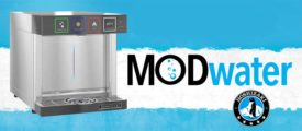 MODwater by Hoshizaki, a sustainable water dispenser.