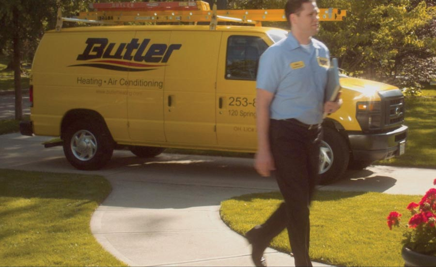Butler Heating & Air Conditioning technician.