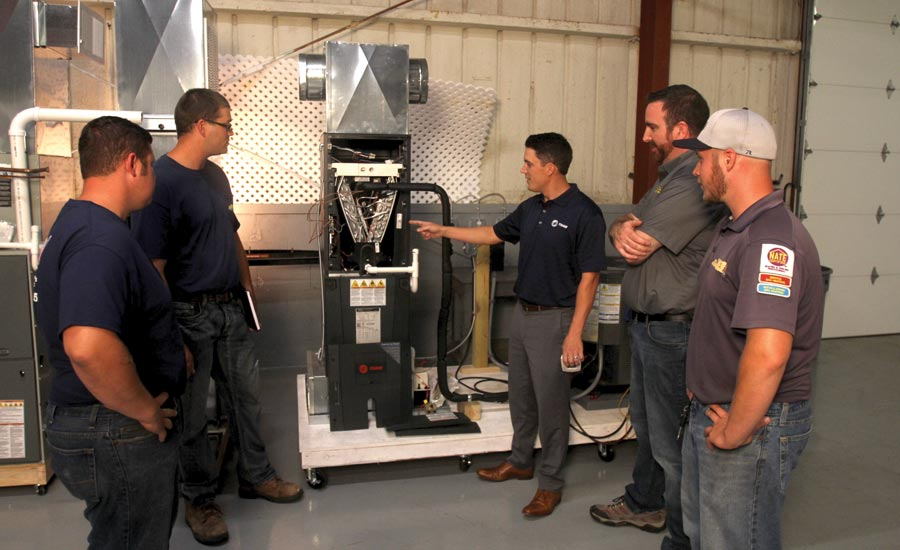 Clay's Climate Control technicians undergo training.