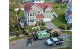 Dandelion Energy's geothermal ground loop installation.