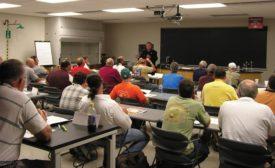 Training HVAC technicians.