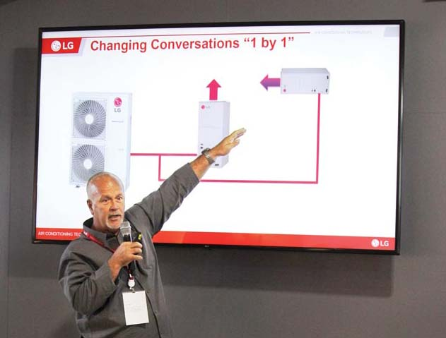 Terry Frisenda, a regional sales manager for LG Electronics, discusses the changing world of heating and air conditioning.