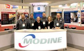 Modine booth personnel.