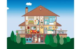 The Environmental Protection Agency provides an interactive Indoor Air Quality House at its website.