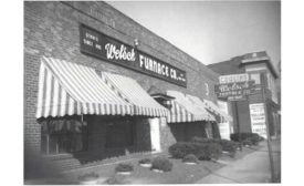 From 1895 to 1970, this storefront served as the headquarters for Welsch Heating and Cooling Co.
