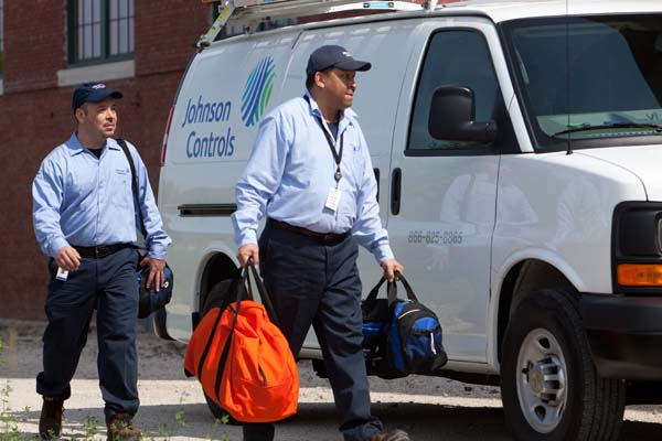 Johnson Controls Van.