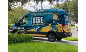 Hero Heating and Air Truck.
