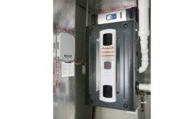 Furnace Utility Closet.