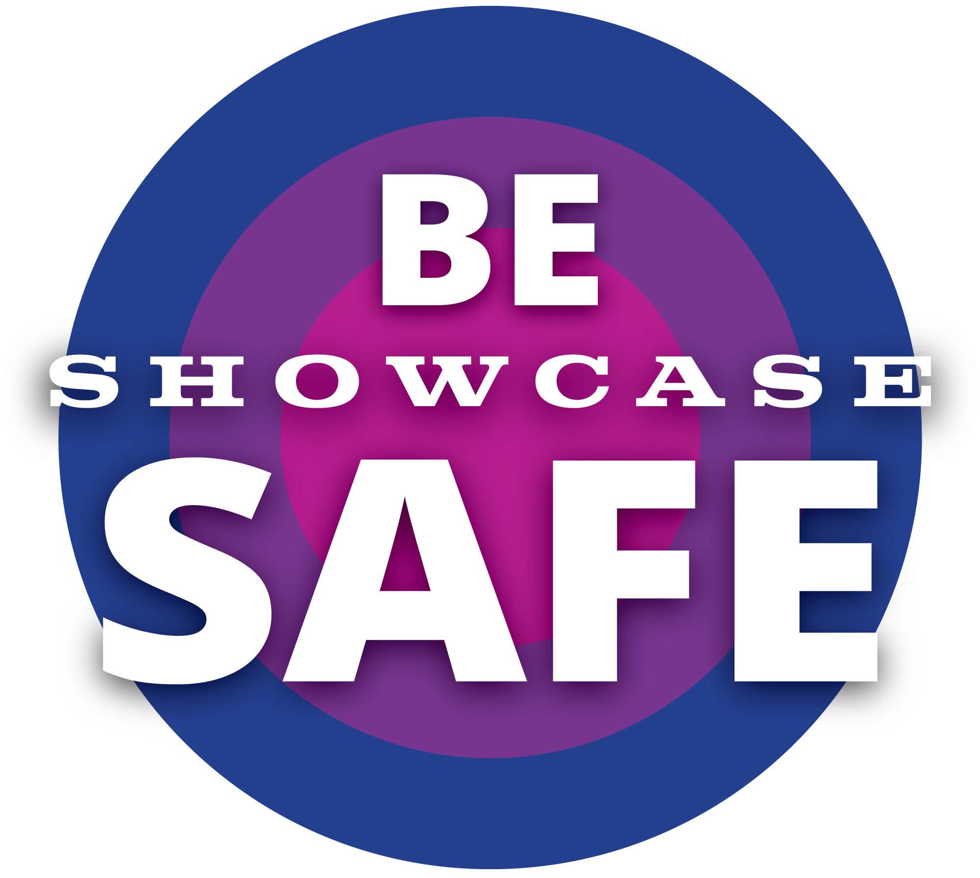 Showcase Be Safe logo.