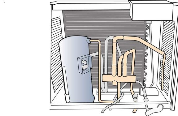 Equipment cooling capacity diagram.
