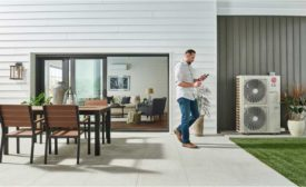 A pair of a variable-speed heat pumps provide comfort to a consumer's home.