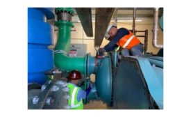 Technicians with Thermal Concepts in Florida work on a large commercial project.