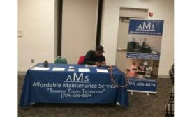Maliek Carrington, owner of Affordable Maintenance Services, awaits students.