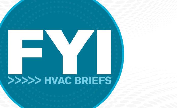 Fyi News Briefs In Hvac March 9 2020 2020 03 09 Achr News