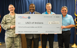 WaterFurnace Intl. Inc. donated $35,000 to the United Service Organization (USO) of Indiana, making the company the largest single contributor to the nonprofit military support organization.