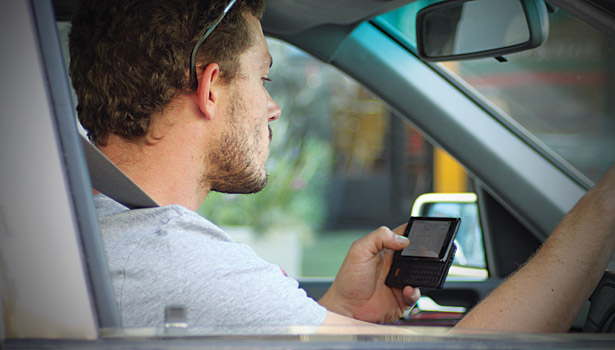 Each second a driver spends on his phone is an opportunity for an accident