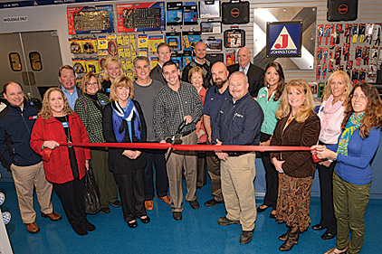A ribbon-cutting event at a new Johnstone Supply location in New Castle, Del.