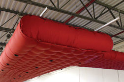 OvalSox is fabric ductwork in an oval shape