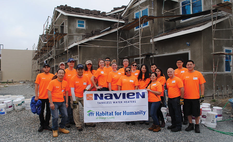 Habitat for Humanity partners with Navien