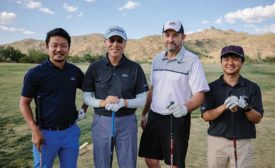 Fujitsu sales meeting golf