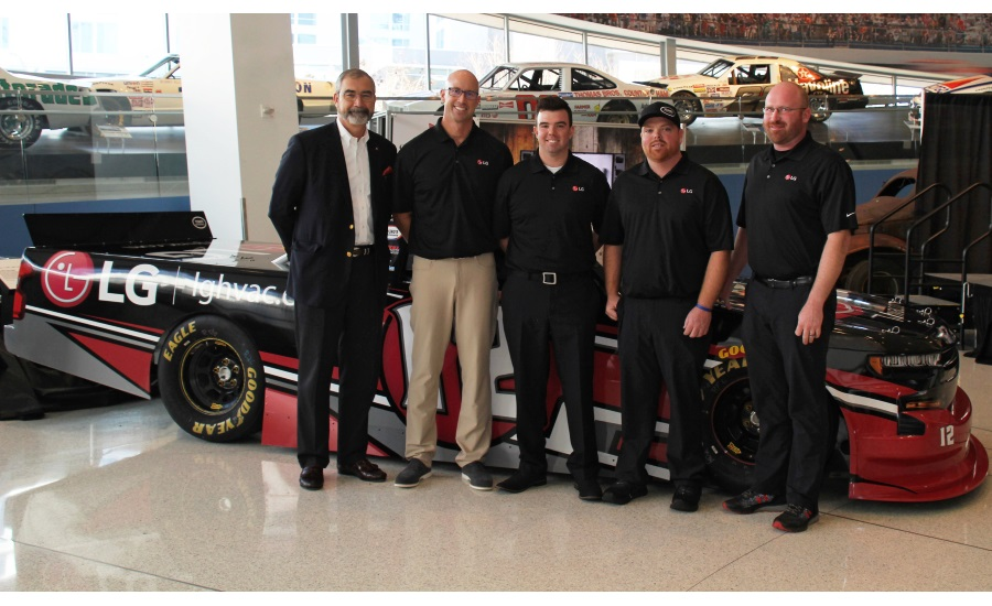 LG Electronics USA Air Conditioning Technologies, Baker Distributing Co. Announce NASCAR Sponsorship