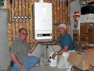 Wall Hung Boiler Provides Efficient Heating Hot Water