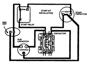 Potential Start Relay Wiring Diagram on wiring diagram of refrigerator compressor