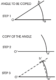 how to draw 45 degree angle with compass