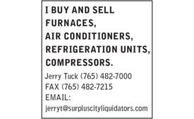I BUY & SELL FURNACES, AC, REFRIG. UNITS, & COMPRESSORS