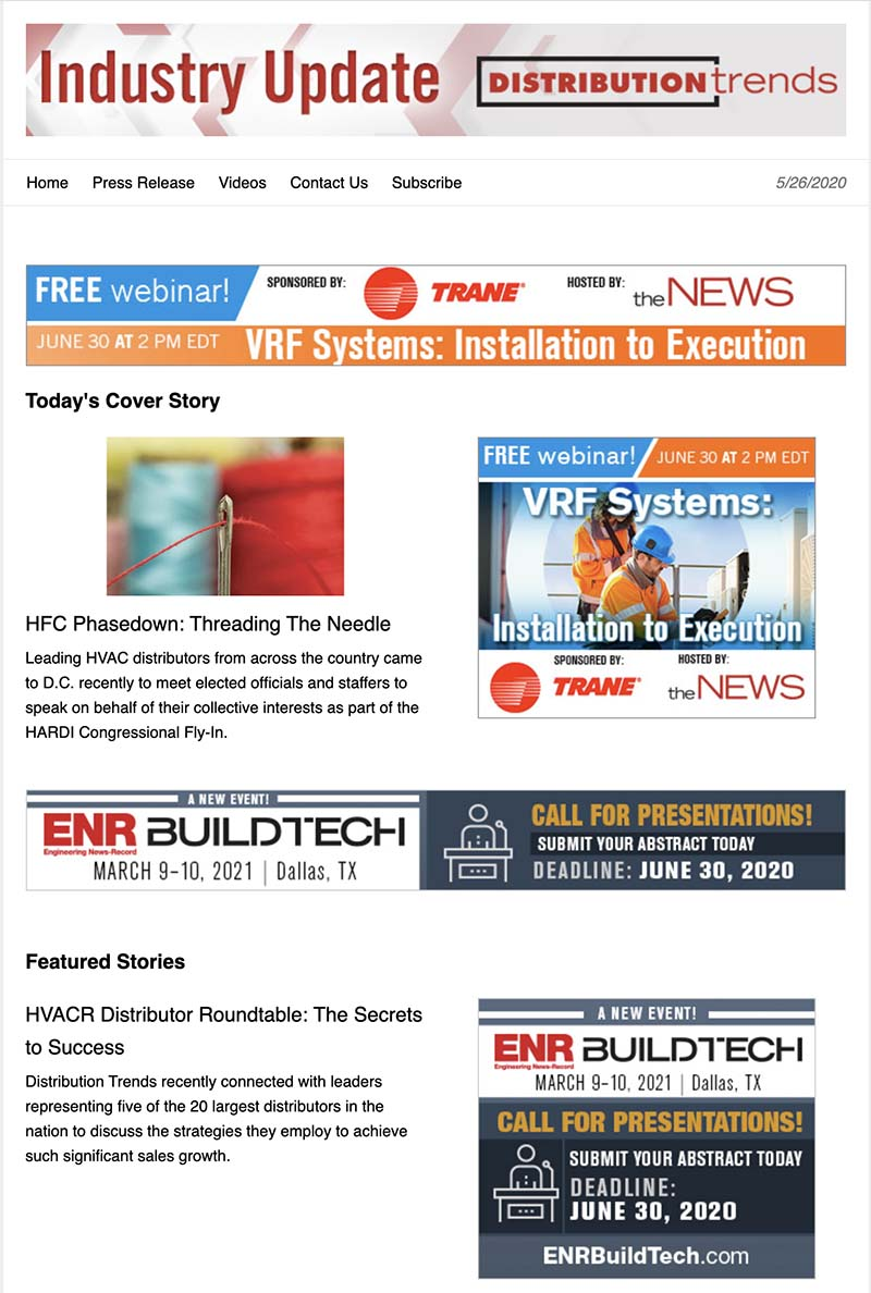 Distribution Trends newsletter.