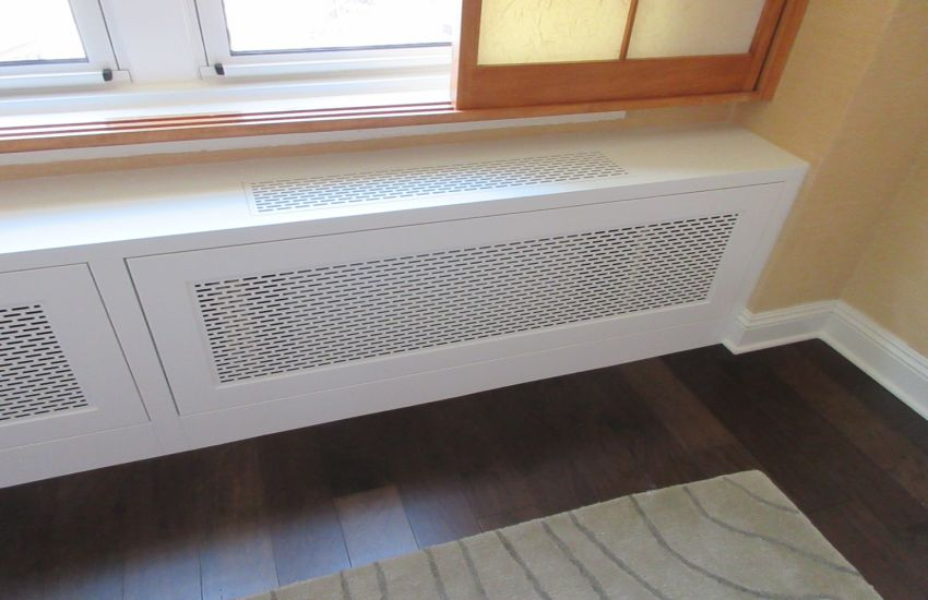 AAG714 Bullet Pattern Radiator Grille in White Powder Coat Finish