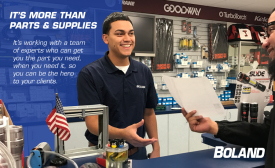 Boland- It's more than parts & supplies